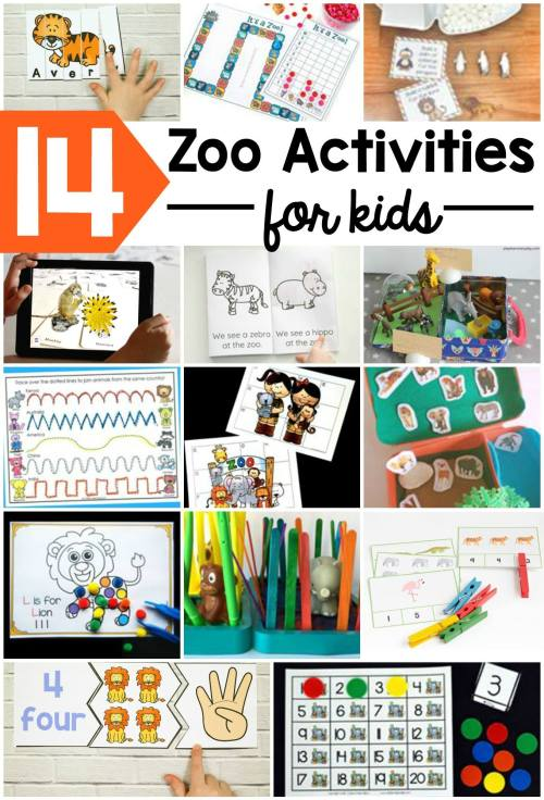 Fun and free learning activities with a zoo animal theme!