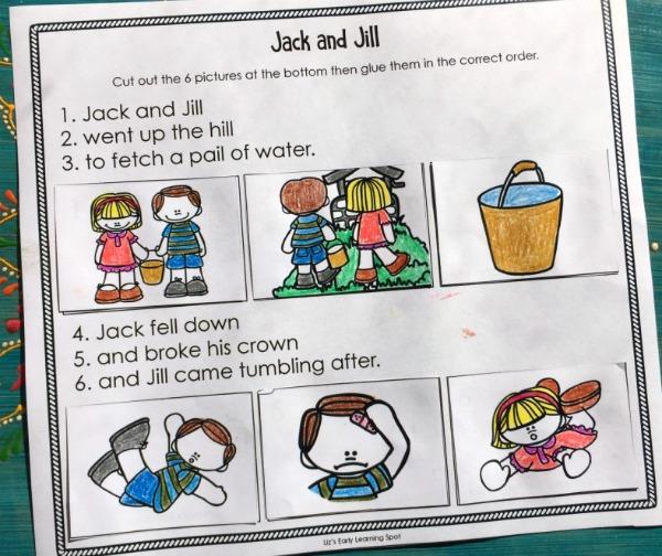 Jack and jill nursery rhymes i abcteach. Com   abcteach.