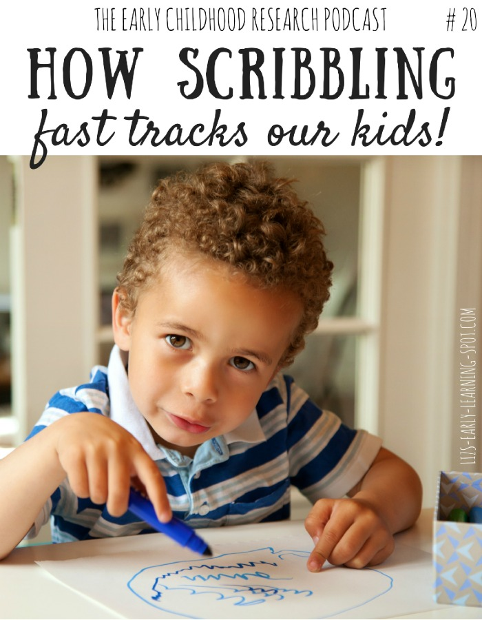 How can your child's scribbling speed up their development? Find out out here, plus grab the free printables!