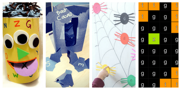 Practice recognising letters with these fun and not-so-scary Halloween alphabet ideas!