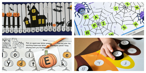 Enjoy these free Halloween alphabet activities for matching uppercase and lowercase letters!