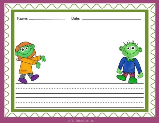 Enjoy writing with this free Halloween-themed writing paper!