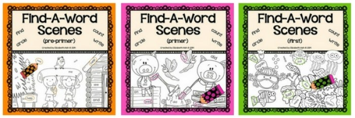 These sight words colouring pages are an easy way to focus on just 4 sight words at a time!