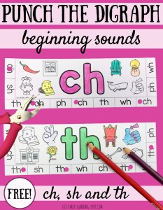 Beginning Digraphs Punch Cards