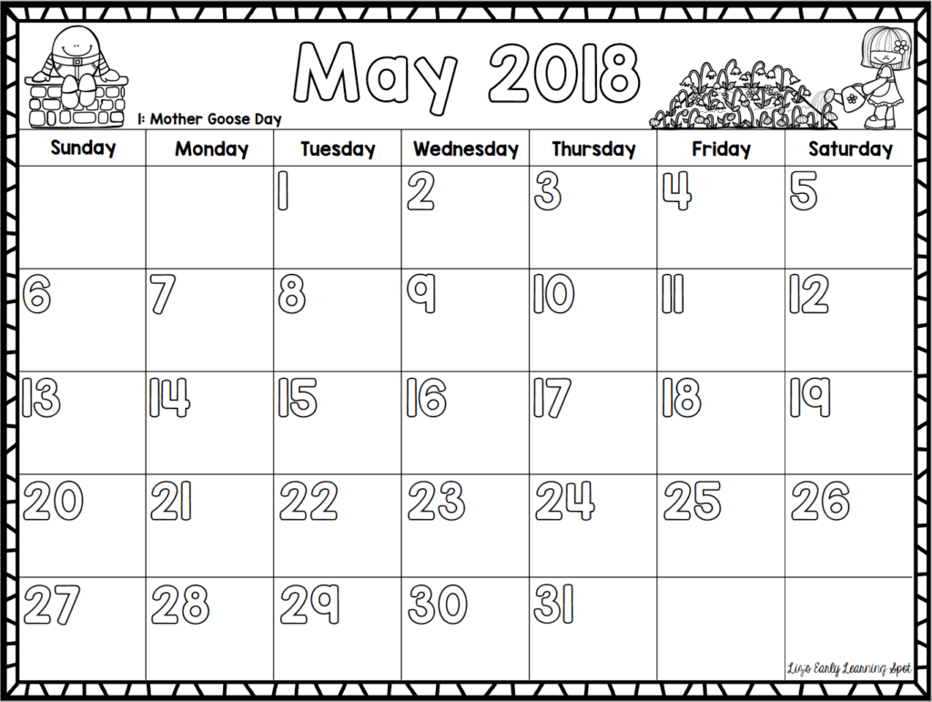 Free Monthly Calendars For Kids