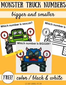 Monster Truck Numbers: Bigger and Smaller