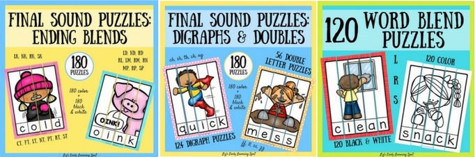 Final sound puzzles for tons of reading fun!