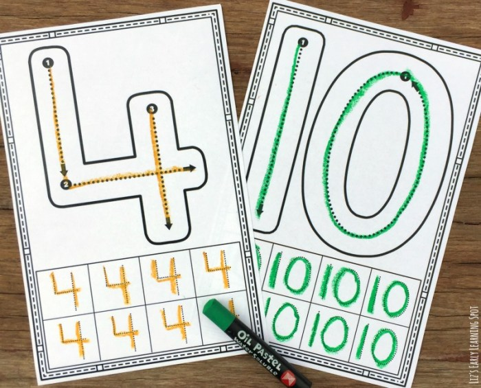 Practice correct number formation with these free tracing cards!
