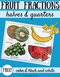 Fractions with Fruit: Whole, Halves and Quarters