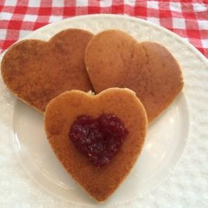 valentine pancakes