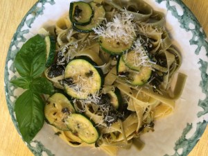 Tagliatelle with Zucchini and Broccoli Di Rapi