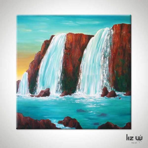 Sedona Waterfall Painting Liz Fine Art