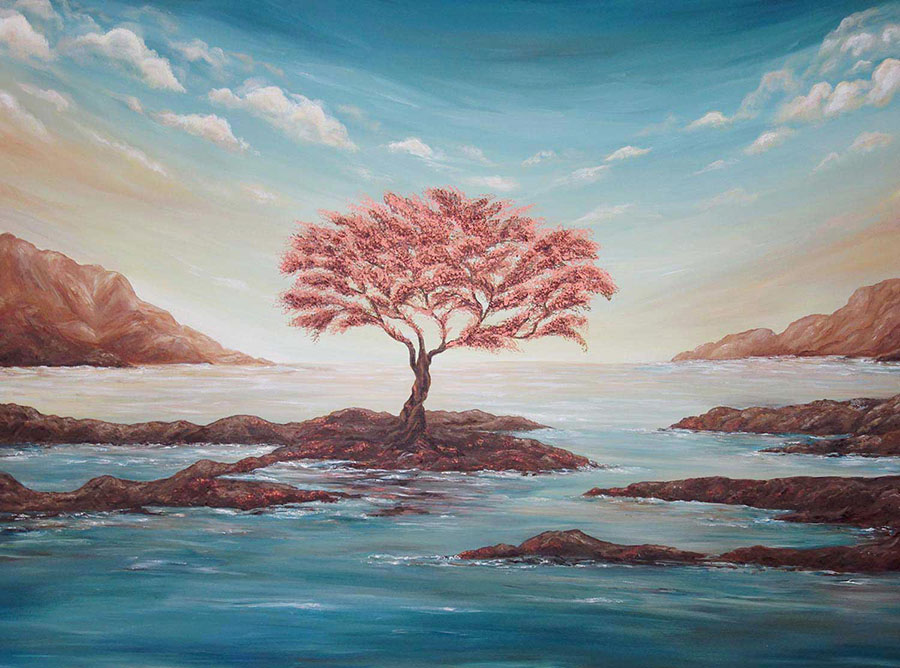 the copper tree painting