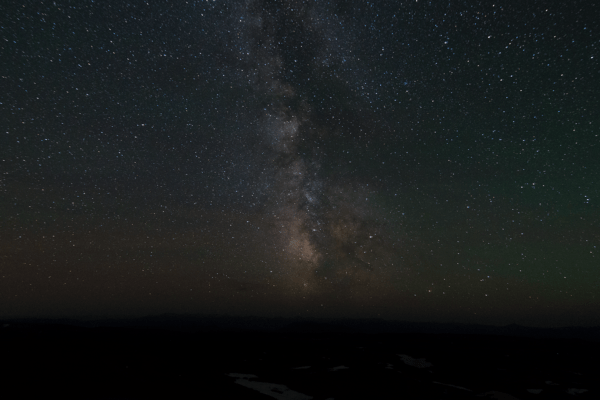 A view of the Milky Way on top of the Beartooth Highway.