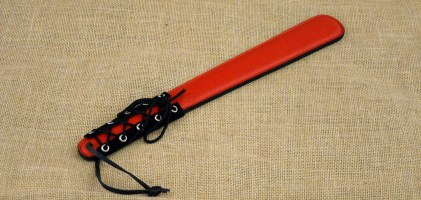 Red – Black Paddle with Laces Looks Sexy, Hits Hard