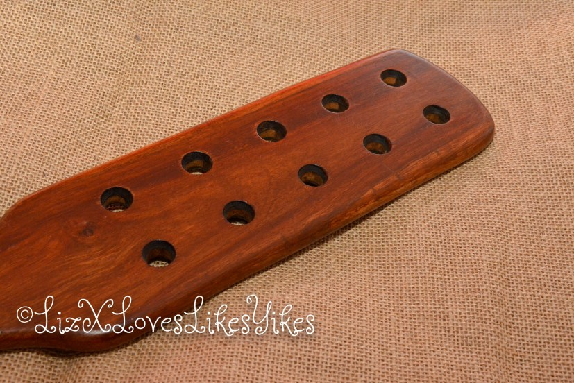 Sir Rosewood - Paddle with Holes - McHurt.eu  Review by Liz BlackX