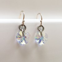 Danon Jewellery Crystal Heart Drop Earrings