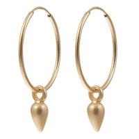 Sence Copenhagen Xmas Gold Plated Hoop Drop Earrings ...