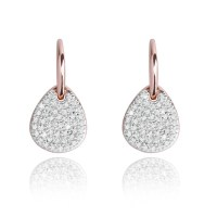Forever Joma The Core Rose Gold Pave Drop Earrings ...