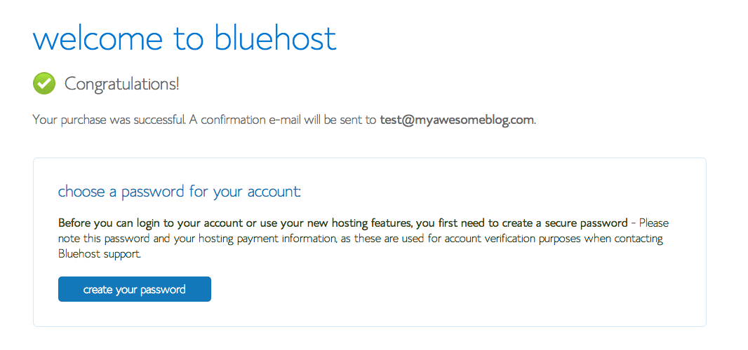 7-Welcome To Bluehost