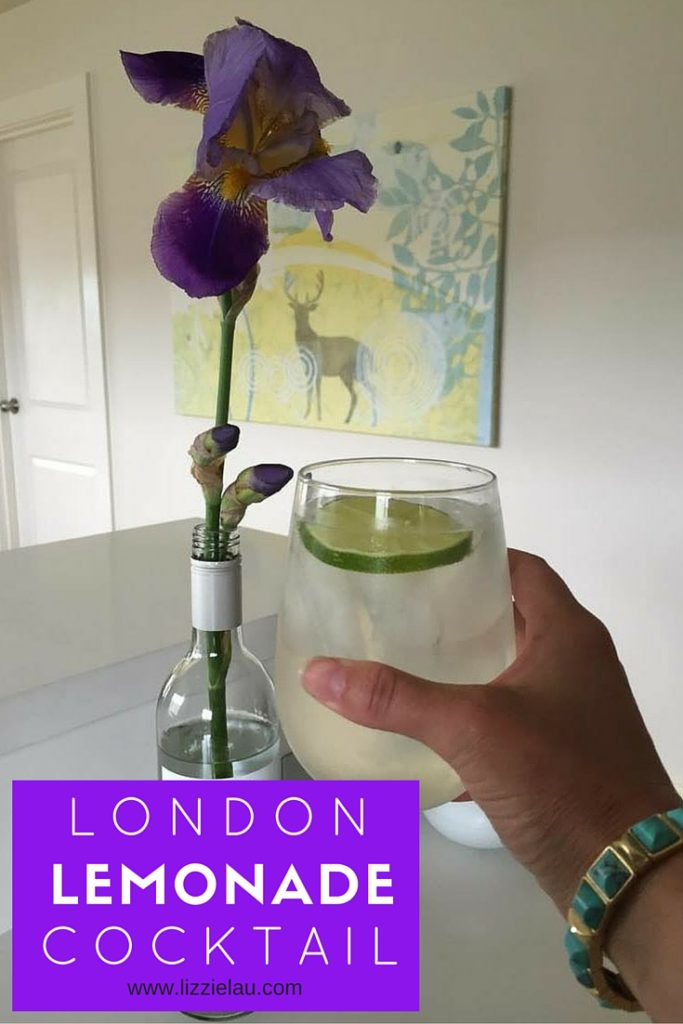 London Lemonade Cocktail - a summery gin drink