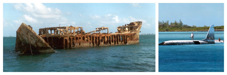 Sapona Wreck and Normans Cay Bahamas 1996
