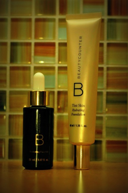 beautycounter hydrating oil and tint skin