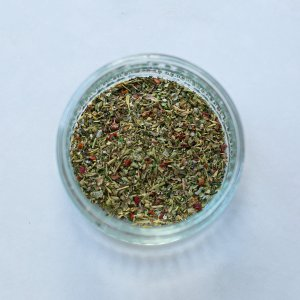 italian seasoning in a bowl for easy homemade oven chips