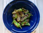 freshly cooked padron peppers
