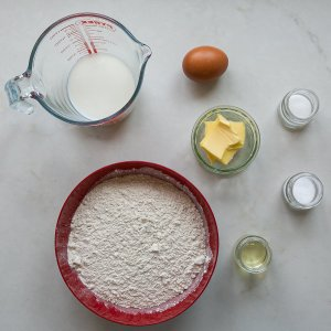 all the ingredients needed to make dishoom's naan