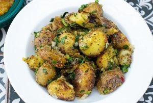 a bowl of Dishoom's Gunpowder potatoes