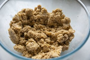 oaty crumble topping in a bowl