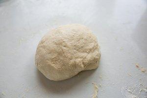 a ball of kneaded naan dough