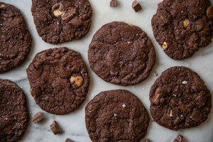 nutlla double chocolate cookies