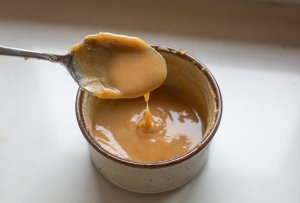 caramel sauce in a bowl