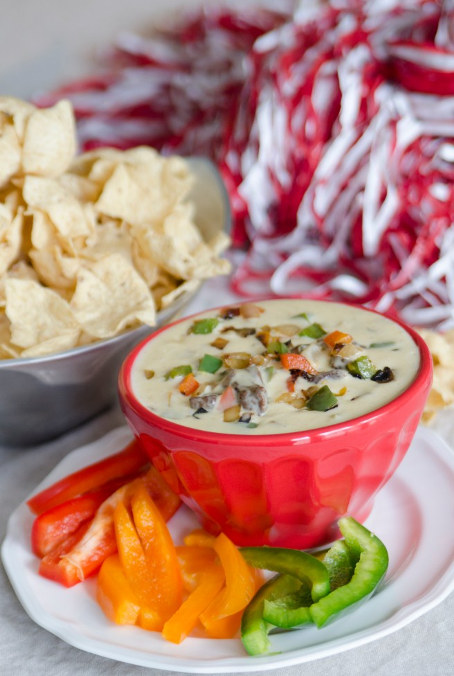 Steak Fajita Queso for your next football party!
