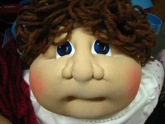 Cabbage Patch Face: allergic reaction!