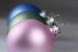 Pink Green and Blue Christmas Balls