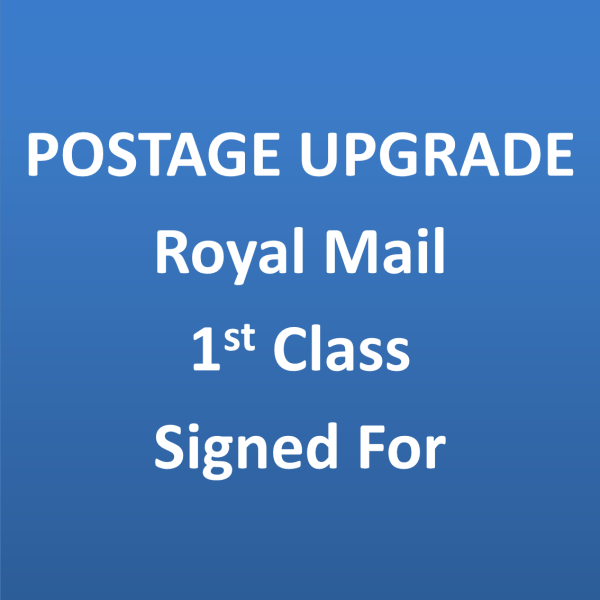 postage upgrade royal mail 1st class signed for