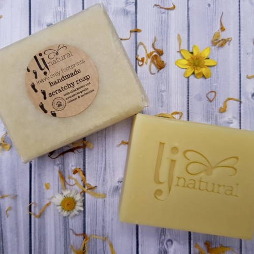 organic scratchy soap - handmade zero waste beauty products, especially for sensitive eczema skin