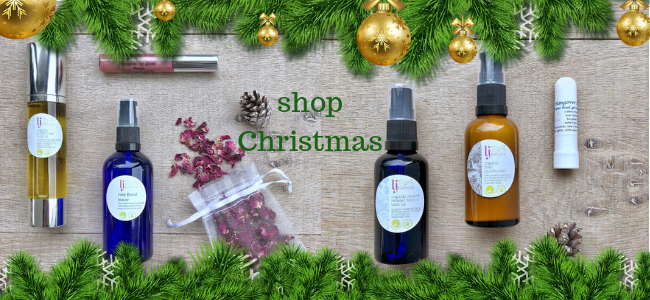 Christmas gift shop organic beauty products