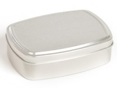 reusable tin for zero waste face oil bar