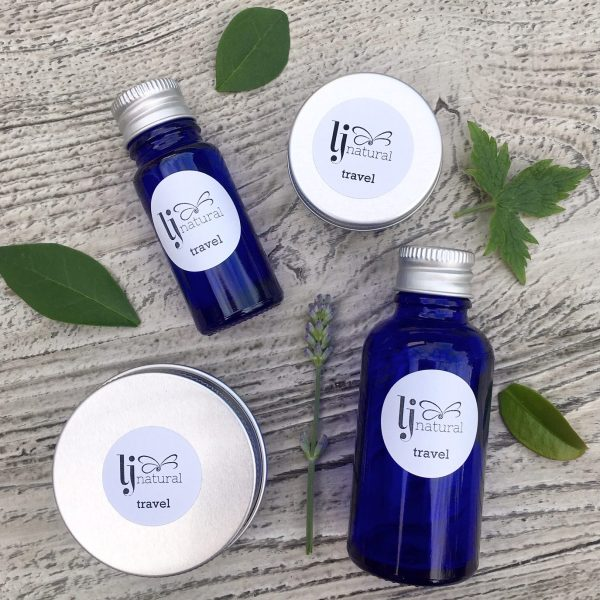 LJ Travel set plastic free organic beauty products