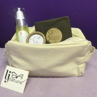 organic toiletry make up bag
