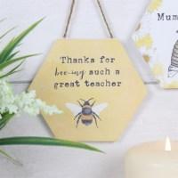 thanks teacher bee hanger