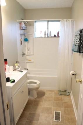 small bathroom makeover + small budget - laci jane