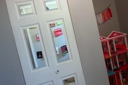 diy mirrored closet door