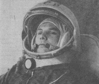 Yuri Gagarin in the Spaceship