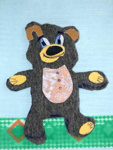 a bear from cloth