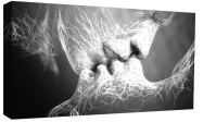Black & White Love Kiss Abstract Art on CANVAS WALL ART ...